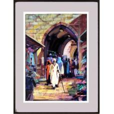 No bairro judeu rua da cidade velha em Jerusalem