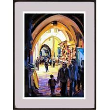 Uma rua da cidade histórica de Jerusalem