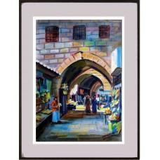 Detalhe de uma rua da cidade velha no bairro judeu